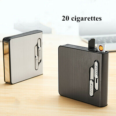 Automatic Cigarette Case USB Electric Rechargeable Lighter Flameless Windproof • 9.49£