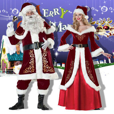 £49.99 • Buy Adult Christmas Santa Claus Cosplay Suit Costume Fancy Dress Party Outfit Xmas