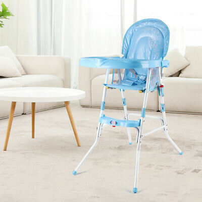 Baby Kids Toddler Infant High Chair Feeding Recliner Seat Chair Foldable Blue • 22.02£
