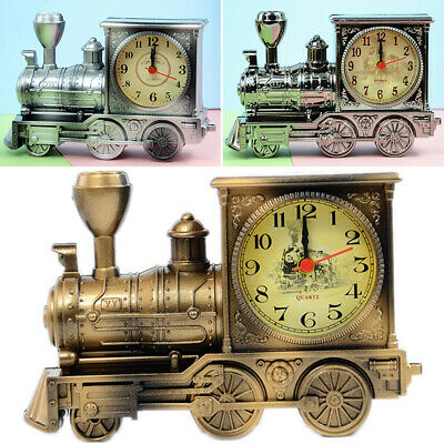 1PC Train Model Alarm Clock Home Birthday GiftS For Boy Cool Clock Decoration • 7.79£
