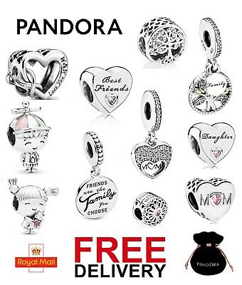 Pandora Charms Family Friends Collection Mum Sister Daughter Nan Friendship NEW • 17.99£