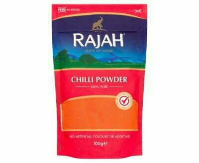 £3.12 • Buy Rajah Chilli Powder 100g. No Artificial Colours Or Additives.