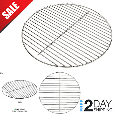 $ CDN15.72 • Buy Grill Cooking Grate 10.5  Round BBQ Rack Steel Grid Replacement Part Heavy Duty