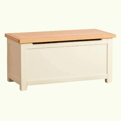 Country Cream Painted Blanket Box Storage Trunk Ottoman Toy Chest Wooden Bench • 198.82£