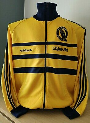 Vintage Adidas First Tracksuit Track Top Jacket LAC Quelle Furth 1860 Germany M • 10.85£