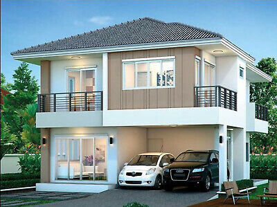 Custom House Home Building Plans 4 BedRoom & 3 Bath Room With Garage & CAD  • 7.86£