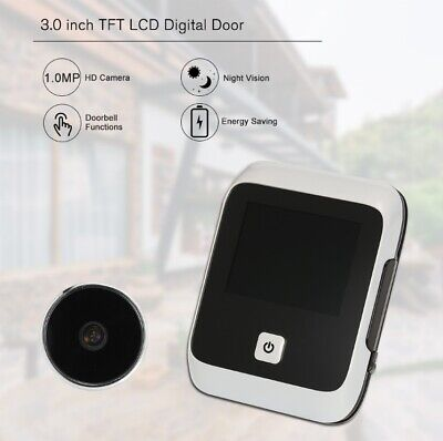 3.0 Inch TFT LCD Visible Digital Door Doorbell Peephole Security Camera AL • 36.77£