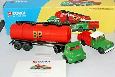 CORGI CLASSICS 31005 Shell BP - Bedford S Type Tanker & Land Rover Set 1.50 • 10£