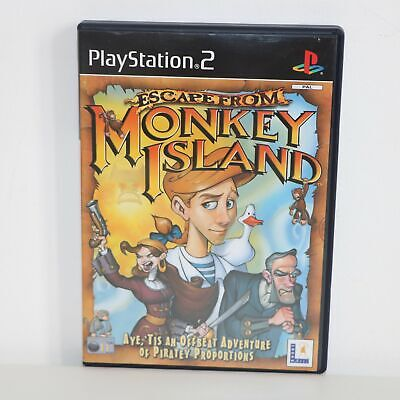 Escape From Monkey Island - Sony Playstation 2 Ps2 Pstwo Game - New Not Sealed • 24.97£