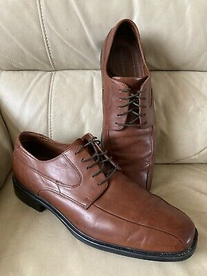 MENS ROCKPORT Tan Leather Shoes Size 13 W Lace Up Very Good Condition • 19.99£
