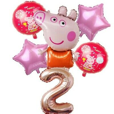 Large Peppa Pig Balloon 31  George Balloons Birthday Party Foil Air Helium Fill  • 6.99£