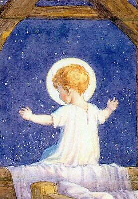 Margaret Tarrant Little Arms Outstretched To Bless   Medici Christmas Card  • 1.99£
