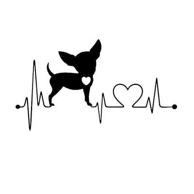 £1.98 • Buy Chihuahua - My Heartline  Heartbeat Style Decal Bumper Stickers