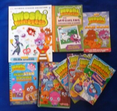 9 Moshi Monster Sticker Book, Collector's Guide, 4 Build Your Path Books + Jokes • 9.99£