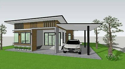 Custom House Home Building Plans 2 BedRoom 2 BathRoom & Garage With CAD Fil • 7.15£
