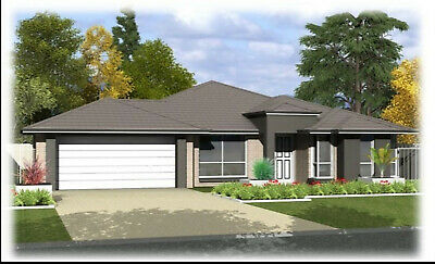 Modern House Home Building Plans 4 BedRoom & 2 Bath Room With Garage & CAD  • 7.15£