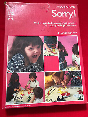 Vintage Sorry Board Game-waddingtons House Of Games 1977-100% Complete Vgc • 10£