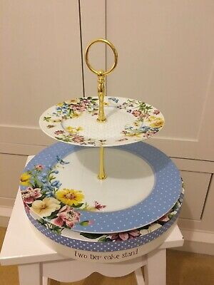 Two Tier Katie Alice Cake Stand Never Used With Box • 9.99£