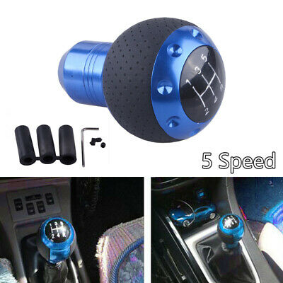 AU29.89 • Buy Blue 5 Speed Car Truck Gear Shift Knob MT Leather Shifter Lever Stick Universal