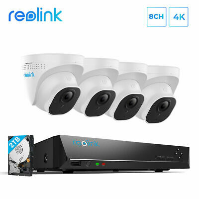 AU749.99 • Buy Reolink 4K Security Camera System 8MP 8CH PoE NVR Kit 7/24 Recording 2TB HDD
