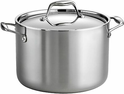 $ CDN174.91 • Buy Tramontina Gourmet 8 Qt Tri-Ply Clad Stainless Steel Covered Stock Pot NEW