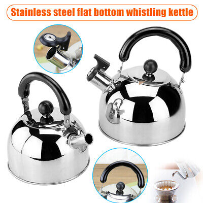 AU33.99 • Buy Thickened Stainless Steel Whistling Tea Kettle Stovetop Water Boilers For Home