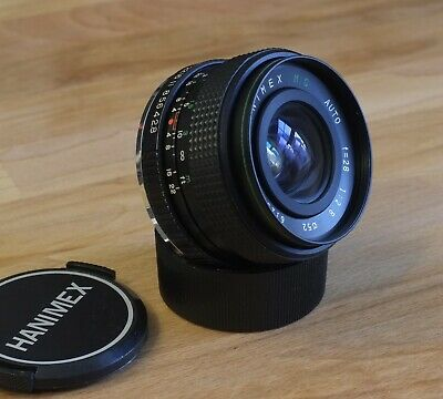 Hanimex 28mm F/2.8 MC Prime Wide Angle Lens - Pentax K Mount - Good Condition • 24.99£