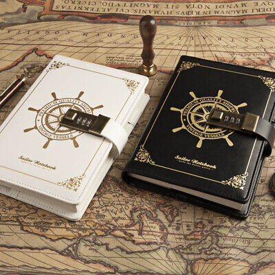 £15.99 • Buy Newest Notebook With Lock Diary Retro Password Book Diary Journal Lockable Note