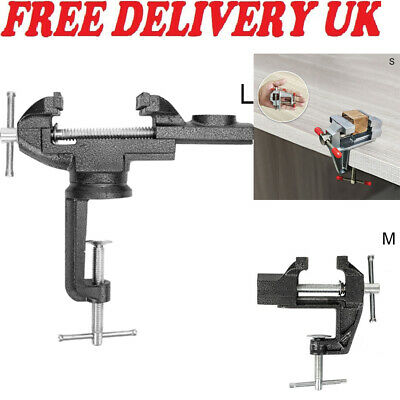 Heavy Duty Table Top Bench Vice Clamp Vise For Jewelry Craft Carving Tool • 6.59£