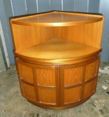 NATHAN FURNITURE Retro Teak Corner Cabinet  - CS M30 • 19.99£