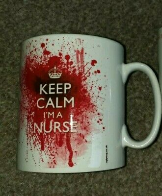 Funny Halloween Nursing Mug Keep Calm I'm A Nurse With Blood Excellent Condition • 0.99£