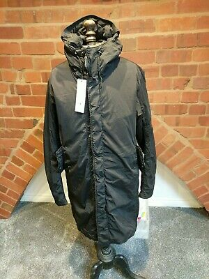 CP Company Black Padded Garment Dyed Nycra Parker/jacket Size 52. Bnwt • 325£