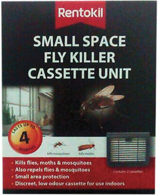 Rentokil Small Space Fly Killer Cassette Unit Pack Of 2 SALE Expired 06/2020 • 6.95£