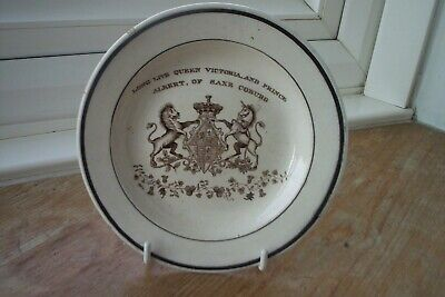Wedding Plate For  Queen Victoria And Prince Albert 1840 • 99£