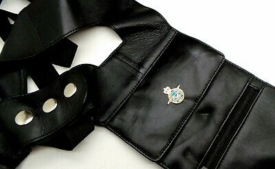 RAF Leather Bag Holster Under Arm Anti Theft Gun Style Royal Air Force Case 007 • 29.99£
