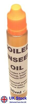 30ml Boiled Linseed Oil - Wood Treatment Preserve Grain Hobby DIY Softwood Craft • 4.19£