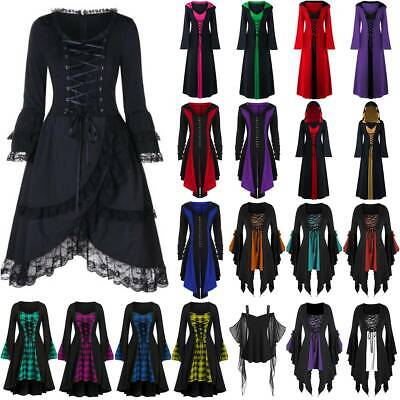 $18.04 • Buy Women Halloween Gothic Witch Punk Cosplay Costume Party Vampire Maid Fancy Dress