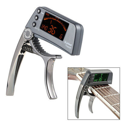 $ CDN21.59 • Buy TCapo20 Guitar Capo Tuner With LCD For Acoustic Folk Electric Guitar Bass C1U6