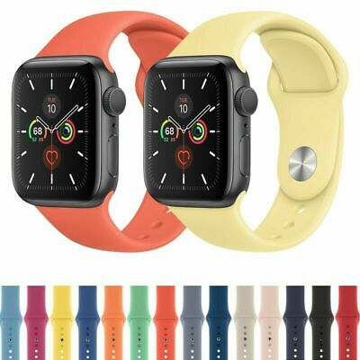 $ CDN7.99 • Buy For Apple Watch Series 5 4 3 2 1 38/42/40/44/mm Unisex Sport IWatch Band Strap
