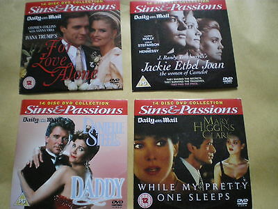 Collection Of Daily Mail Dvds - Sins & Passions - Danielle Steel, Ivana Trump • 1.50£