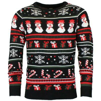 £10.95 • Buy Unisex Mens Womens Xmas Christmas Snowman Jumper Knitted Sweater