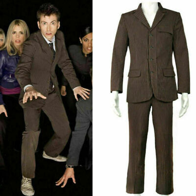 Doctor Who Dr Brown Cosplay Pinstripe Business Suit Men'S Fancy Dress • 48.99£