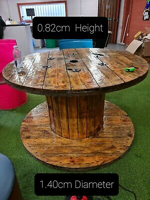 Large Wooden Cable Reel/ Drum/Spool Upcycled Industrial Garden Tables • 180£