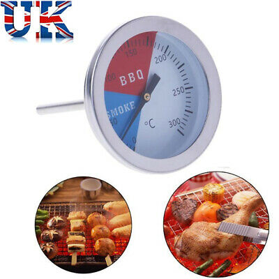 BBQ Tools 0-300 Celsius BBQ Grill Thermometer Temperature Gauge Oven Kitchen • 4.89£
