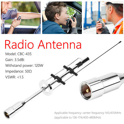 CBC-435 UHF VHF Dual Band Antenna 145MHz 435MHz For Mobile Radio PL-259 • 14.50£