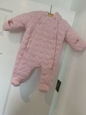 0-3 Months Baby Girl SnowSuit/ Pramsuit New Without Tag • 1£