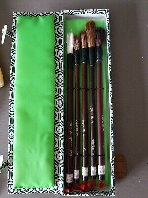 Artist Paint Brushes Set Real Horse Hair Chinese Wood Handle  • 10.50£