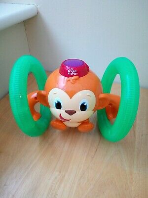 Bright Starts Baby & Toddler Roll And Glow Monkey Toy • 8£