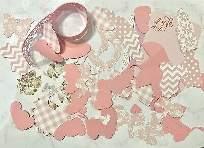 Pink New Baby Floral Patterned Scrapbook Kit Supplies Bundle Card Making Journal • 3.99£