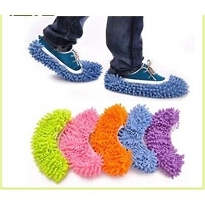 Mop Slippers Lazy Floor Secret Santa Polishing Cleaning Dust Shoes Student Socks • 2.60£